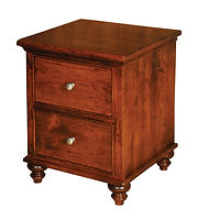 Duchess 2 Drawer Nightstand|Rustic Cherry in Asbury OCS117|21 1/2in W x 20 5/8in D x 27in H|The Amish Home|Amish Furniture at the Pittsburgh Mills