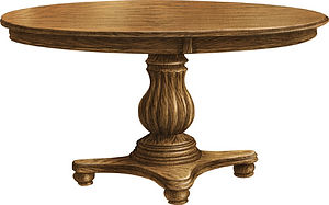 American dinner table small round table furniture for sale Amish furniture Pittsburgh Mills