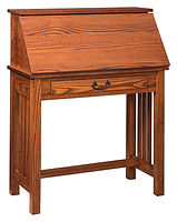 Junior's Mission Secretary Desk | Oak in Michaels OCS113 | 32in W x 16in D x 43in H | The Amish Home | Amish Furniture at the Pittsburgh Mills
