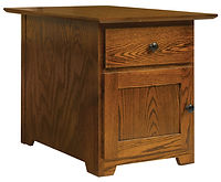 Mission Enclosed Large End Table | Oak in Michaels OCS113 | 20in W x 26in D x 22in H | The Amish Home | Amish Furniture at the Pittsburgh Mills