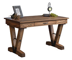 Fitzgerald Writing Table | Oak in Driftwood OCS135 | 54in W x 28in D x 30 1/2in H | The Amish Home | Amish Furniture at the Pittsburgh Mills