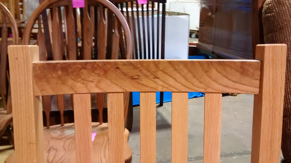 Oak Mission Chairs with Natural Stain