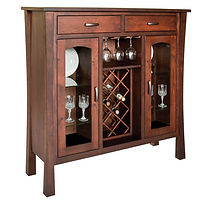 Woodbury Wine Cabinet|Rustic Cherry in Asbury OCS117|52in W x 17 1/2in D x 52 1/2in H|The Amish Home|Amish Furniture at the Pittsburgh Mills