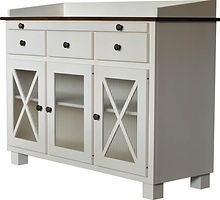 Blakely Server|Brown Maple in White Paint|56in W x 19 1/2in D x 36in H|The Amish Home|Amish Furniture at the Pittsburgh Mills