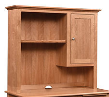 Cherry Valley Hutch for 42in and 48in desks | Cherry in Natural OCS100 | 48in W x 14in D x 48in H | The Amish Home | Amish Furniture at the Pittsburgh Mills