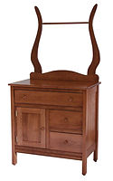 Country Mission Wash Stand|Quartersawn White Oak in Michaels OCS113|33 1/2in W x 19 7/8in D x 34 1/2in H|The Amish Home|Amish Furniture at the Pittsburgh Mills