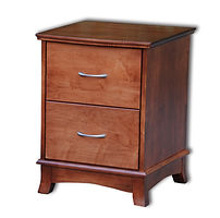 Crescent 2 Drawer Nightstand|Cherry in S-14 OCS108|21 1/2in W x 20 3/4in D x 27 1/2in H|The Amish Home|Amish Furniture at the Pittsburgh Mills