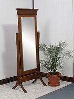 Banbury Cheval Mirror|Brown Maple in Boston OCS111|26in W x 18in D x 67in H|The Amish Home|Hardwood Furniture at the Pittsburgh Mills