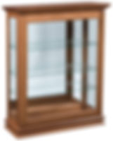 Petite Small Sliding Door Picture Frame Curio|Brown Maple in Seely OCS104|39 1/2in W x 14 3/4in D x 48in H|The Amish Home|Hardwood Furniture at the Pittsburgh Mills