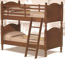 Cape Cod Twin over Twin Bunk Bed|Oak in Fruitwood OCS102|82in W x 43in D x 78in H|The Amish Home|Amish Furniture at the Pittsburgh Mills