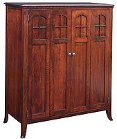 Petite Mount Eaton Computer Armoire | Brown Maple in Rich Cherry OCS227 | 46in W x 21in D x 54in H | The Amish Home | Amish Furniture at the Pittsburgh Mills