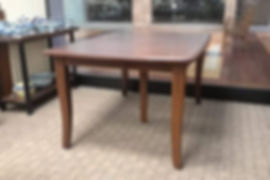 Floor Model Special Easton Pike Cherry Dining Table with self-store expansion boards