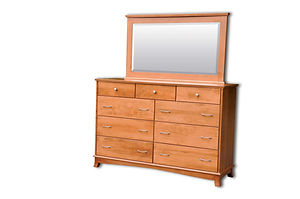 Crescent Tall Dresser|Cherry in S-14 OCS108|65 1/2in W x 20 3/4in D x 43in H|The Amish Home|Amish Furniture at the Pittsburgh Mills