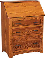 Junior's Mission Drop Front Desk | Oak in Michaels OCS113 | 32in W x 18 1/2in D x 43in H | The Amish Home | Amish Furniture at the Pittsburgh Mills
