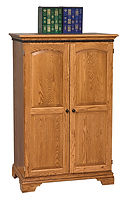 Petite Computer Armoire | Oak in Medium OCS110 | 35in W x 21 1/2in D x 54in H | The Amish Home | Amish Furniture at the Pittsburgh Mills