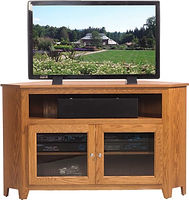 Economy Corner TV Stand|Oak in S-2 OCS101|in W x 18in D x 32in H, 37 3/4in wall space|The Amish Home|Hardwood Furniture at the Pittsburgh Mills