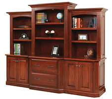 Buckingham Credenza with Hutch|Cherry in Washington OCS107|100in W x 24in D x 79 1/2in H|The Amish Home|Amish Furniture at the Pittsburgh Mills