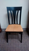 Metro Side chair with wood seat