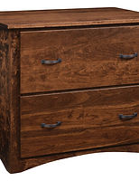 Wayne's Shaker Lateral File Cabinet|Rustic Cherry in Medium OCS110|36in W x 22in D x 31in H|The Amish Home|Amish Furniture at the Pittsburgh Mills