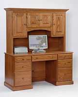 Configure-Your-Own Desk with Hutch | Oak in Fruitwood OCS102 | 60in W x 24in D x 70 1/2in H | The Amish Home | Amish Furniture at the Pittsburgh Mills