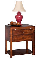 Park Avenue 2 Drawer Nightstand|Brown Maple in Michaels OCS113|26in W x 17 1/2in D x 30in H|The Amish Home|Amish Furniture at the Pittsburgh Mills