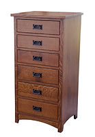 Empire Mission Lingerie Chest|Quartersawn White Oak in Michaels OCS119|24 3/4in W x 20 3/4in D x 49in H|The Amish Home|Hardwood Furniture at the Pittsburgh Mills