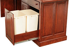 Double Trash Pull Out for Kitchen Island