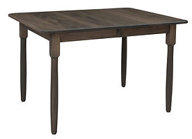 Carla Dining Table | Brown Maple in Smoke OCS121 | Many Sizes Available | The Amish Home | Amish Furniture at the Pittsburgh Mills