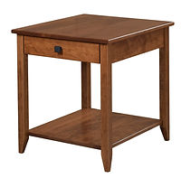 Nelson's Economy Shaker End Table | Rustic Cherry in S-14 OCS108 | 22in W x 24in D x 24in H | The Amish Home | Amish Furniture at the Pittsburgh Mills