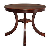 Carlisle Single Pedestal Table | Shown with round top, roundover edge. Available with butterfly leaf. | Oak in Acres OCS106 | Many Sizes Available | The Amish Home | Amish Furniture at the Pittsburgh Mills