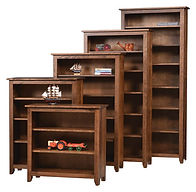 Wayne's Modern Mission Bookcase | Brown Maple in Rich Tobacco OCS228 | Many Sizes Available | The Amish Home | Amish Furniture at the Pittsburgh Mills