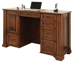 Lincoln Standing Desk|Brown Maple in Boston OCS111|72 1/2in W x 24in D x 43in H|The Amish Home|Amish Furniture at the Pittsburgh Mills