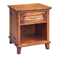 Brooklyn 1 Drawer Nightstand|Cherry in Washington OCS107|21in W x 20 1/4in D x 26 1/4in H|The Amish Home|Hardwood Furniture at the Pittsburgh Mills