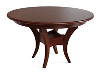 Fenton Single Pedestal Table | Shown with round top, roundover edge. Available with butterfly leaf. | Brown Maple in Mission Maple OCS225 | Many Sizes Available | The Amish Home | Amish Furniture at the Pittsburgh Mills