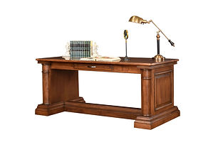 Paris Library Table   Cherry in Chocolate Spice FC-9090   72in W x 32in D x 30 1/2in H   The Amish Home   Amish Furniture at the Pittsburgh Mills