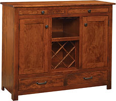 Easton Pike Wine Server|Rustic Cherry in Boston OCS111|48in W x 17 1/2in D x 40 1/4in H|The Amish Home|Amish Furniture at the Pittsburgh Mills