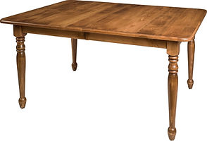 Sunbury Dining Table | Brown Maple in Fruitwood OCS102 | Many Sizes Available | The Amish Home | Amish Furniture at the Pittsburgh Mills