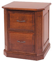 Buckingham File Cabinet with 2 Drawers|Cherry in Washington OCS107|26 1/2in W x 23 1/2in D x 30 1/2in H|The Amish Home|Amish Furniture at the Pittsburgh Mills