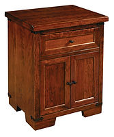 Farmhouse 1 Drawer 2 Door Nightstand|Rustic Cherry in Asbury OCS117|25in W x 20in D x 30 1/2in H|The Amish Home|Hardwood Furniture at the Pittsburgh Mills