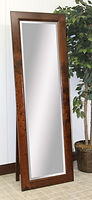 Brooklyn Shaker Leaner Mirror with Support|Rustic Cherry in Michaels OCS113|24in W x 13 1/2in D x 69in H|The Amish Home|Hardwood Furniture at the Pittsburgh Mills