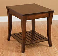 Riviera End Table | Brown Maple in Rich Tobacco OCS228 | 22in W x 24in D x 24in H | The Amish Home | Amish Furniture at the Pittsburgh Mills