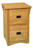 Ray's Mission Two-Drawer File Cabinet | Oak in Fruitwood OCS102 | 21 1/2in W x 20 1/2in D x 32 1/2in H | The Amish Home | Amish Furniture at the Pittsburgh Mills
