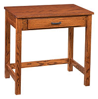 Junior's Mission Small Writing Desk | Oak in Michaels OCS113 | 30in W x 20 1/2in D x 30in H | The Amish Home | Amish Furniture at the Pittsburgh Mills