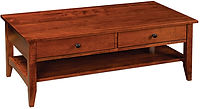 Somerset Coffee Table | Rustic Cherry in Michaels OCS113 | 48in W x 24in D x 19in H | The Amish Home | Amish Furniture at the Pittsburgh Mills