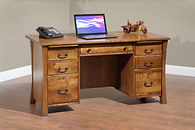 Woodbury Executive Desk | Brown Maple in Asbury OCS117 | 60in W x 30in D x 30 3/4in H | The Amish Home | Amish Furniture at the Pittsburgh Mills