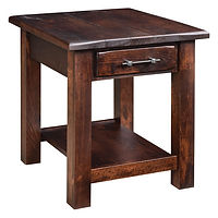 Barn Floor End Table | Rustic Cherry in Asbury OCS117 | 22in W x 24in D x 24in H | The Amish Home | Amish Furniture at the Pittsburgh Mills