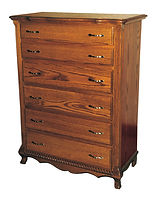 Classic Chest of Drawers|Oak in Seely OCS104|42 3/4in W x 21in D x 55 1/2in H|The Amish Home|Amish Furniture at the Pittsburgh Mills