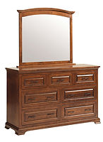 Wilkshire Dresser with Optional Mirror|Rustic Cherry in Boston OCS111|59 1/2in W x 20in D x 37 1/2in H|The Amish Home|Amish Furniture at the Pittsburgh Mills