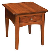 Westchester End Table | Rustic Cherry in Michaels OCS113 | 23in W x 27in D x 24in H | The Amish Home | Amish Furniture at the Pittsburgh Mills