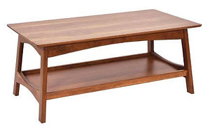 Laurel Coffee Table|Rustic Cherry in Seely OCS104|48in W x 22in D x 18in H|The Amish Home|Amish Furniture at the Pittsburgh Mills